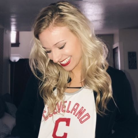 Cassandra Johnson, a senior nursing student from Boardman, OH, was recently offered a spot on the Cleveland Indians Entertainment Team for the 2017 season.