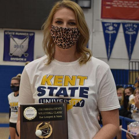 East Liverpool High School Volleyball Coach Kelly Kiger