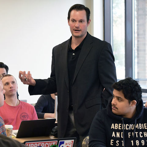 Kent State's Craig Zamary introduces students to artificial intelligence (AI).