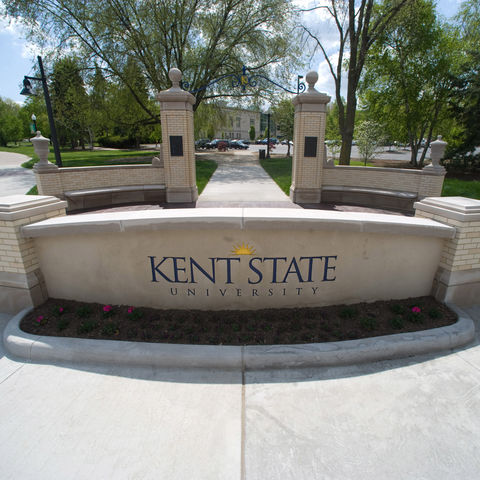 A view of Kent State University from the northwest corner of campus.