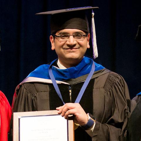 Dr. Deepraj Mukherjee awarded the Distinguished Teaching Award at Kent State Stark.