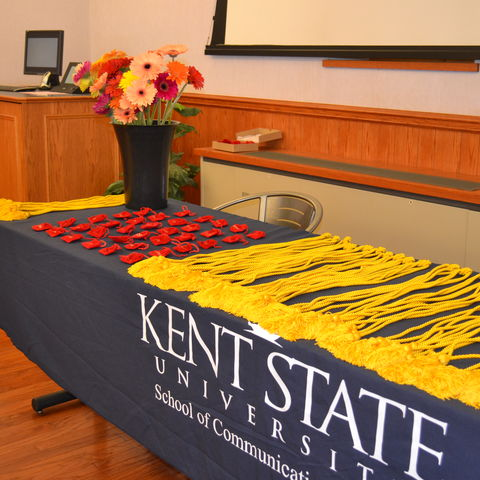 image of honor cords for lambda pi eta induction