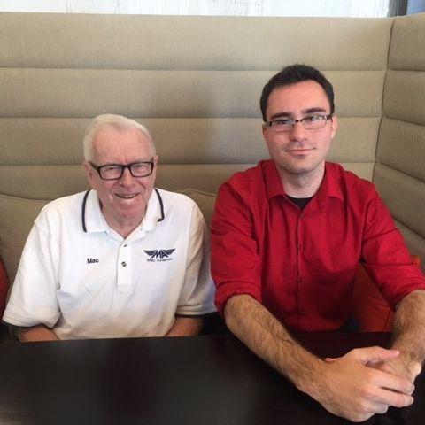 Donor Mac McFarland and his scholarship recipient Brendan Evans
