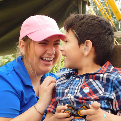 Erica Dovin Shares a Laugh With a Patient In Honduras: Photo Courtesy of Delta Zeta