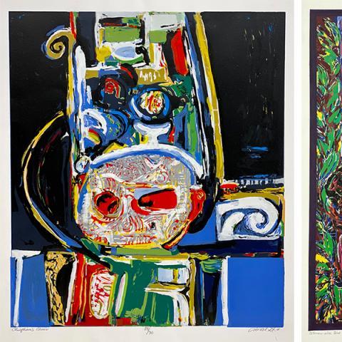 Three prints by David Driskell