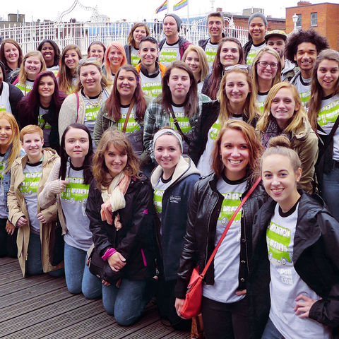 Kent State advertising, public relations and visual communication design students lived and studied together in Dublin, Ireland, during an education abroad trip. (Photo credit: Christopher Darling)