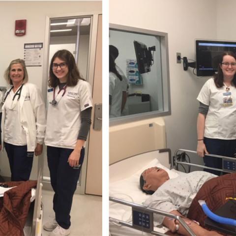 Junior nursing students participate in pilot simulation escape room study.
