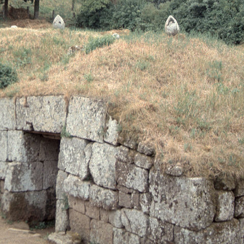 Etruscan tombs at Orvieto, Italy — about 45 northwest from where Dr. Sarah Harvey and her colleagues discovered a likely Etruscan necropolis in summer 2019.