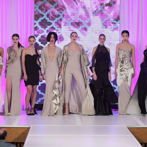 "Julien Remi Nguyen's ""Symbiosis"" received the Eveningwear Award at the 2017 Annual Fashion Show"