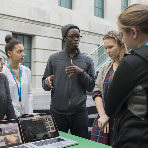 Students at the 2016 Fashion/Tech Hackathon