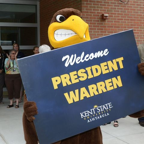 Flash welcome's Dr. Beverly Warren to the Ashtabula Campus.