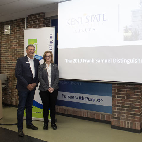 Kent State Geauga Dean with Geauga Growth Partnership