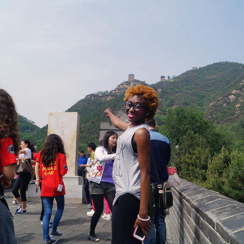 Kent State economics major and Chinese minor Garmai Matthew is excited to climb the Great Wall of China during her education-abroad trip this past summer.