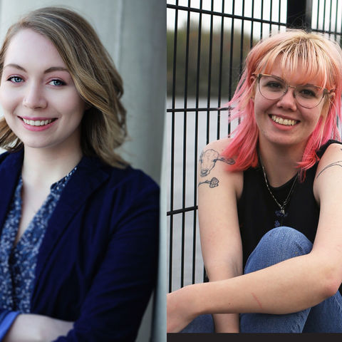 Gracen Gerbig (left) and Hayley Shasteen (right), both Kent State University students in the College of Arts and Sciences, recently received the Barry M. Goldwater Scholarship