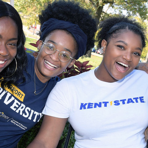 Kent State students enjoy the second annual DiversiFest, a festival that celebrates Kent State's diversity and culture, at the Williamson House during 2017 Homecoming.