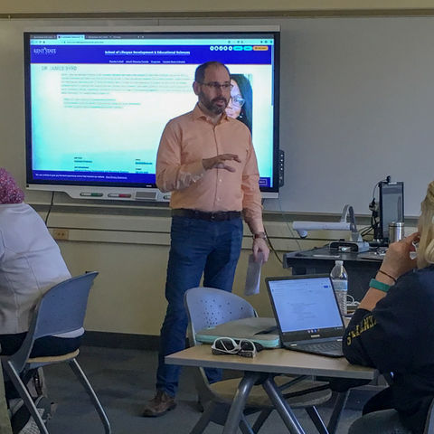 Paul Geis hosted a breakout session at Spring2019 Doctoral Forum Retreat
