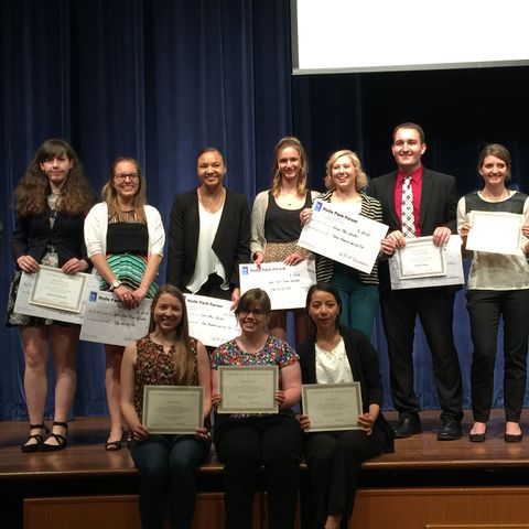 Students compete for scholarships and the coveted People's Choice Award in the annual Hyde Park Forum.