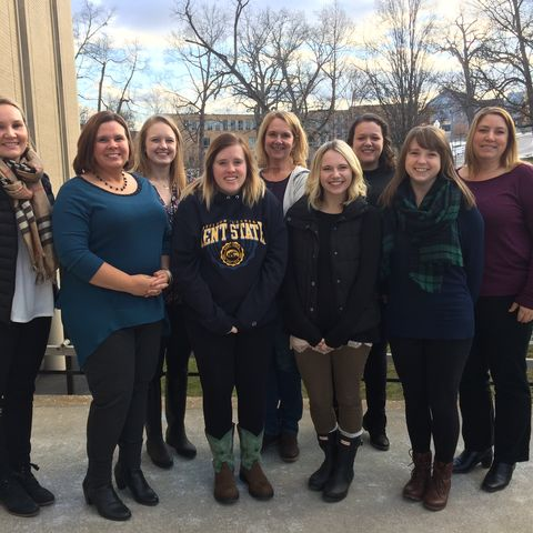 Members of Kent State University's 2016-2017 Early Intervention Certificate Program cohort pose for a group photo.
