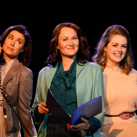 "Courtney Brown, Amy Fritsche, and Erin Diroll star in Porthouse's production of ""9 to 5"""