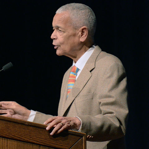 Julian Bond, a leader of the civil rights movement, served as keynote speaker at Kent State's 13th Annual Martin Luther King Jr. Celebration on Jan 22, 2015.