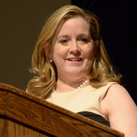 Kate O'Brian gives McGruder guest lecture. Photo: Bob Christy, UCM