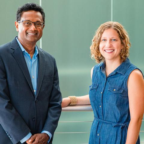 Bathi Kasturiarachi and Ashley Meinke