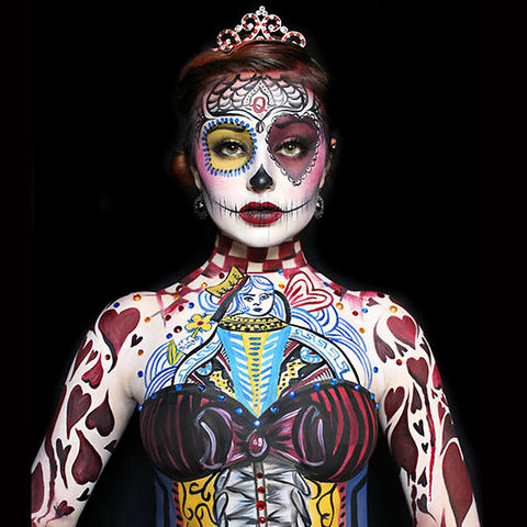 "Carrie Esser used water-based body paint to turn herself into a ""queen bee."" Her artistry landed her in the second round of the NYX Cosmetics 2018 Face Awards USA."