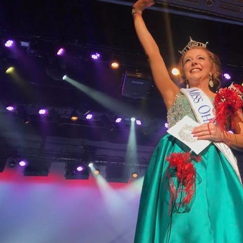 Communication Studies major Matti-Lynn Chrisman celebrates after being crowned Miss Ohio 2018. Photo credit: Matti-Lynn Chrisman