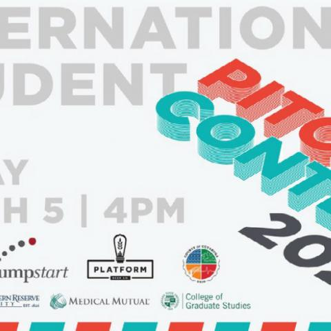 Flyer for the Global Cleveland 2021 International Student Pitch Contest