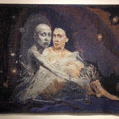 Oxana Dallas MA thesis exhibition, weaving