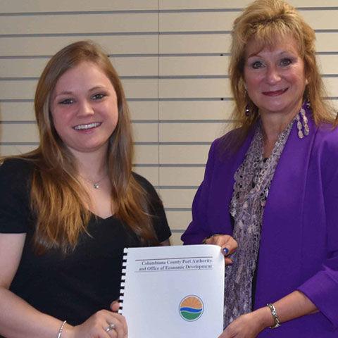 Student Macie Davidson; Penny Traina, Port Authority