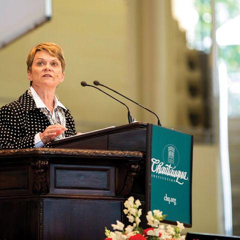 President Beverly J. Warren speech at Chautauqua