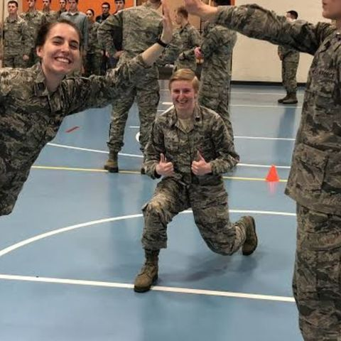 Rachael Parks was asked to lunch by the national head of the ROTC based on her excellent performance on a case study project she did on the program in an organizational communication course.