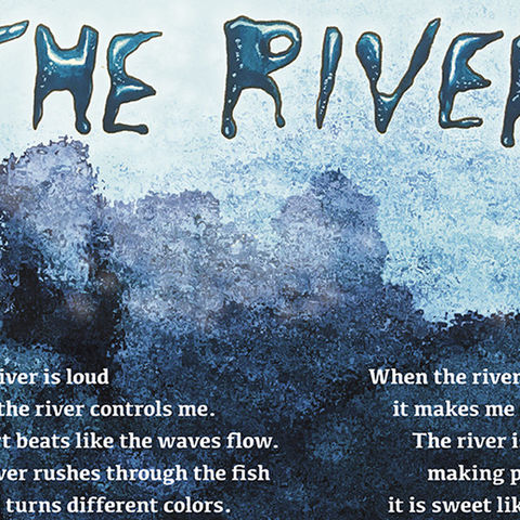 Group Poem by Kent Parks and Recreation Summer Camp, Design by Anna Moorehead
