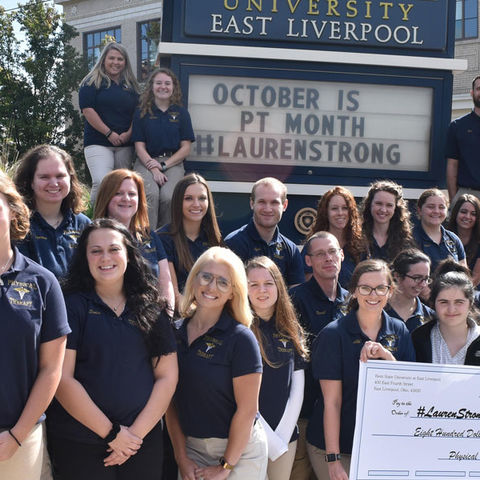 PTA students showing support for the #LaurenStrong Foundation and its namesake Lauren Thomas