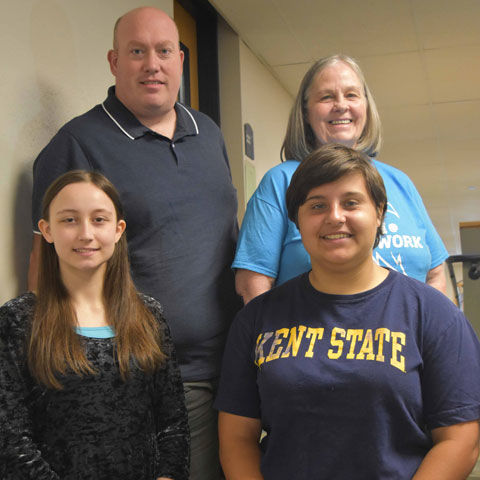 Kent State East Liverpool officers for the Undergraduate Student Government organization are (front, from left) Sydney Hill and Helenmarie Smith; and (back, from left) Andrew Jackson and Linda Adkins.