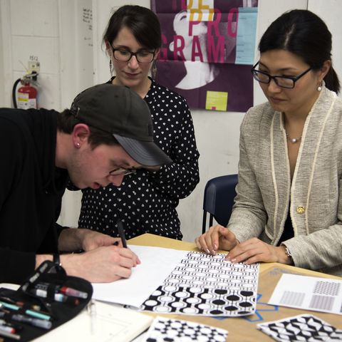 VCD students in the Retail Design: Concept Through Fabrication class helped to re-design the Fashion School Store.