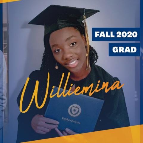 Fall 2020 Graduate Williemina Harmon