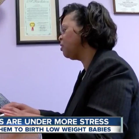Angela Neal-Barnett talks with WEWS about the relationship between stress during pregnancy and low birth weight in African American children.