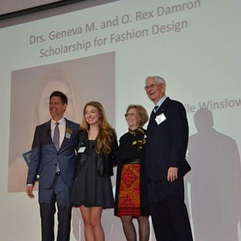 Pictured at left are Dr. Geneva M. Damron and Dr. O. Rex Damron