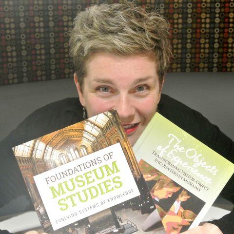Kiersten F. Latham with copies of her books