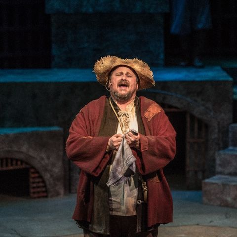 Assistant Professor Timothy Culver performs in Man of LaMancha.