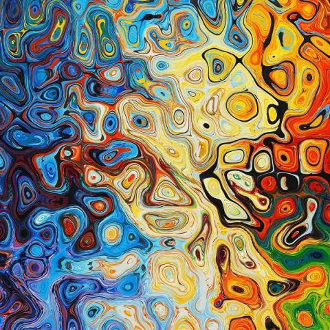 Abstract rainbow swirl art by 8926 from Pixabay