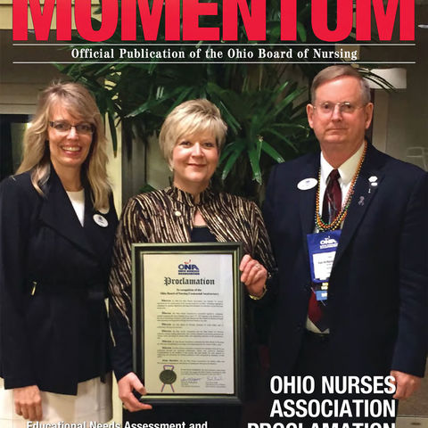 Yvonne Smith appears on the cover of the Fall 2015 edition of Momentum