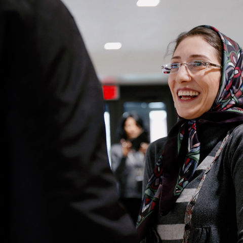 Mansoureh Shasti, an Iranian Ph.D. student studying physics, recently returned to the U.S. after being blocked by the travel ban.