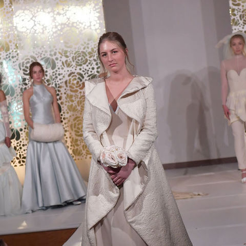Kent State University students model original designs created by Fashion School students during the school's 2018 spring fashion show.