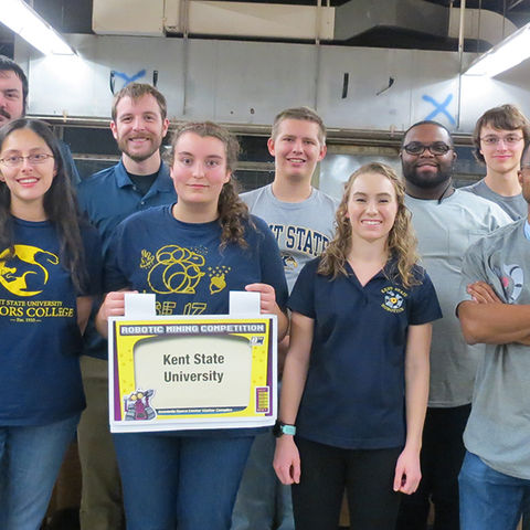 Pictured are members of Kent State Robotics. The team will compete in May at NASA's 2018 Robotic Mining Competition.