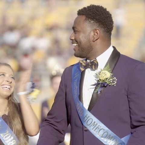 """Last weekend's celebration of 100 years of Homecoming at Kent State was """"ruled"""" by 2018 Homecoming Queen Jennifer Uren and Homecoming King Jordan Euell."""