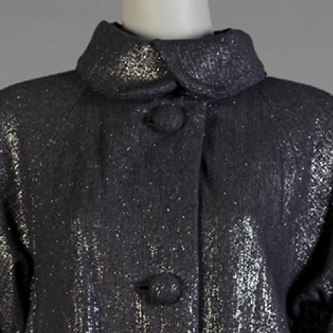 Coat with metallic shimmer by Tracy Reese