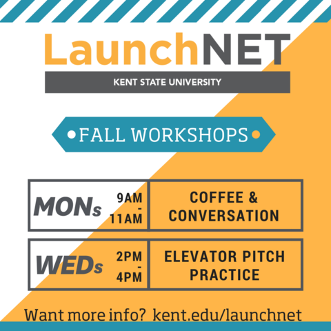 LaunchNET hosts coffee & conversation on Mondays this fall
